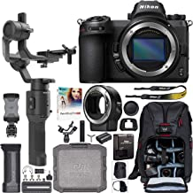 Nikon Z6 Mirrorless FX-Format Full-Frame 4K Ultra HD Camera Body 1595 Filmmaker's Kit with DJI Ronin-SC 3-Axis Handheld Gimbal Stabilizer Bundle + Mount Adapter FTZ + Deco Photo Backpack + Software