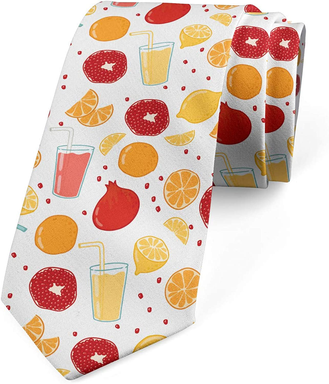 Ambesonne Necktie, Fruits Juice Lemon, Dress Tie, 3.7