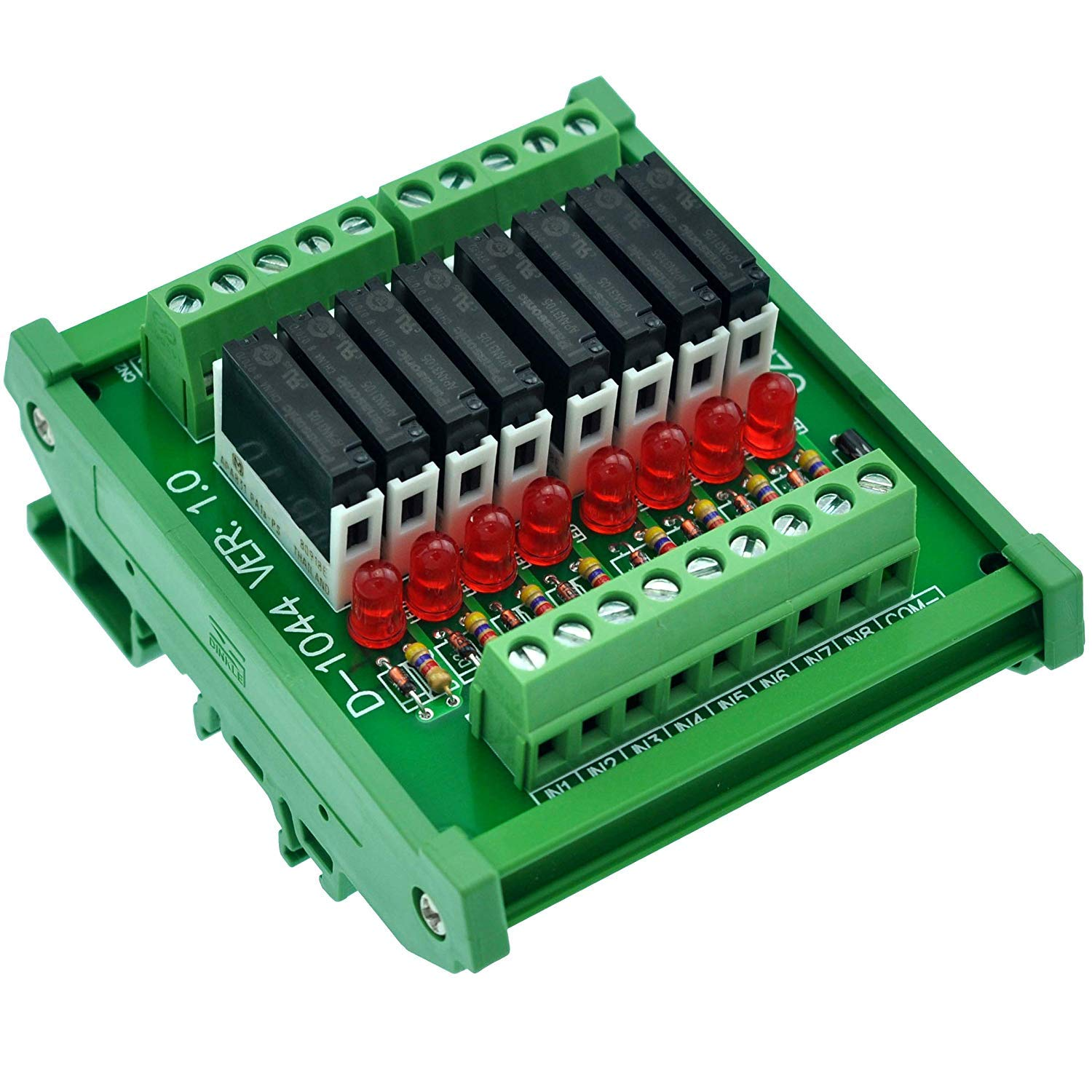 Electronics-Salon Slim DIN Rail Mount SPST-NO 67% OFF of fixed Complete Free Shipping price DC5V PNP Source 8