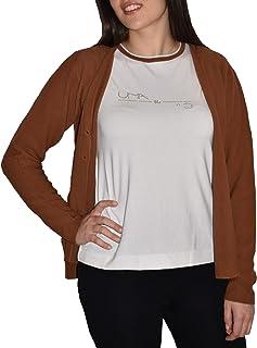 UNA su 10 Giacca Sciallata Maglieria, T-Shirt, 100% Cotone, Senza Cuciture.