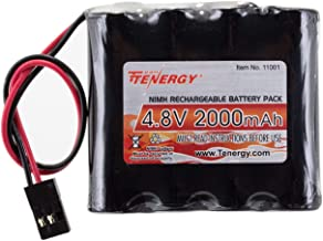 Tenergy NiMH Receiver RX Battery with Hitec Connectors 4.8V 2000mAh High Capacity..
