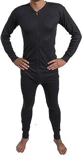 Men All in One Union Winter Warm Ski Thermal Underwear Boiler Suit Zip Up