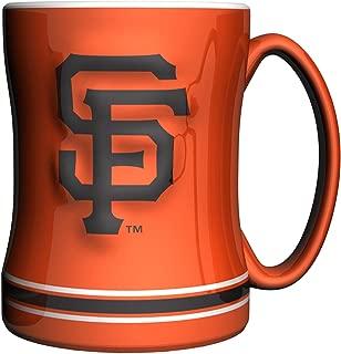 MLB Unisex MLB 14-Ounce Sculpted Relief Mug Alternate Color, Orange