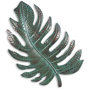 Tooart Leaf Metal Wall Art Decor Iron Leaf Decoration for Home Wall Hanging Ornament