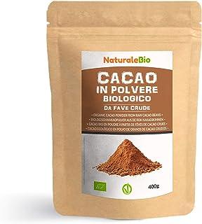 Cacao Ecológico en Polvo 400 g. Organic Cacao Powder. 100% Bio, Natural y Puro producido a partir de Granos de Cacao Crudo...