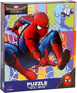 Marvel Spider-Man 48 Pieces Jigsaw Puzzle (10 x 9 inches), Homecoming