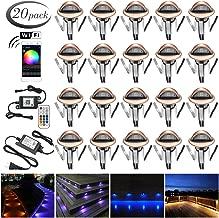 Smart Wi-Fi LED Decking Lights Kit, FVTLED Pack of 20 Φ1.38
