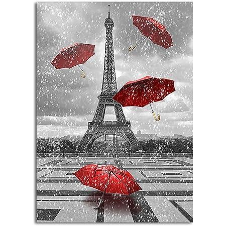 Watery Romance I Keilrahmen-Bild Leinwand Paris Regen Art Atelier Alliance