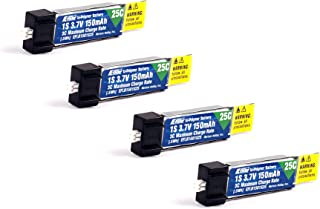 Pack of 4 E-Flite 150mah 1s 3.7v 25c Lipo Battery e flite (4Pcs)