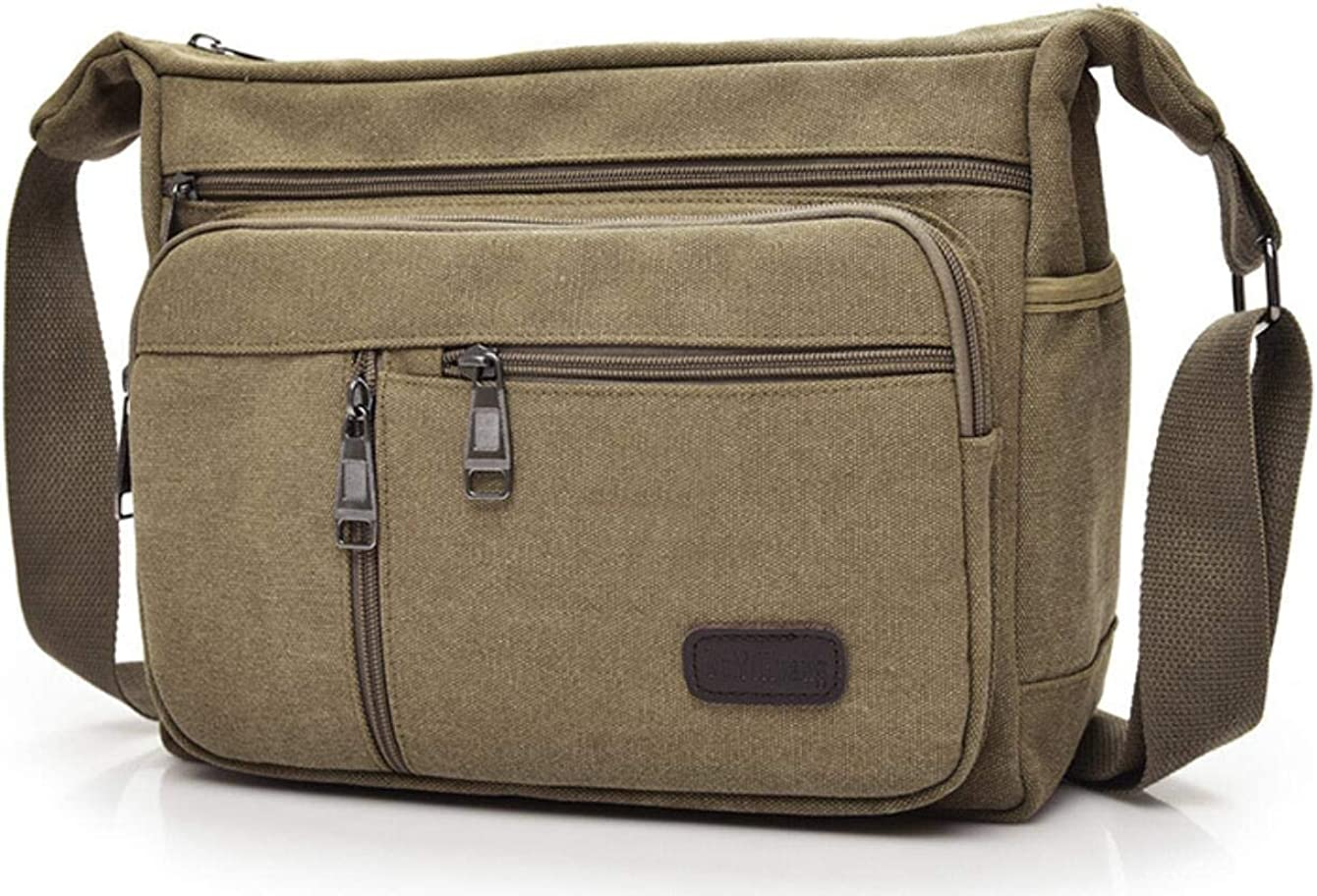 Joewilling Department store Men's Canvas Single Shoulder with Leisure Max 77% OFF Bag Mul
