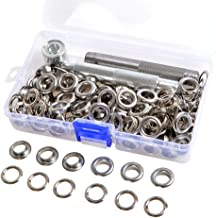 8mm Silver Eyelet 6//8//10mm w//Washer 100 Sets Grommets Fit Leather Craft Scrapbooking Shoes Bags
