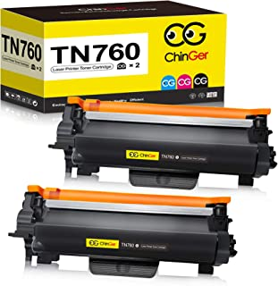 CHINGER TN760 Compatible Toner Cartridge Replacement for Brother TN760 TN-760 TN730 Used with HL-L2350DW HL-L2395DW HL-L23...