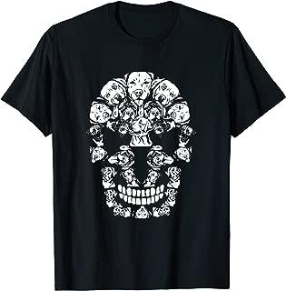 Skull Labrador Dog Gifts Funny Halloween Costume T-Shirt
