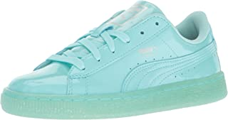 PUMA Kids' Basket Patent Iced Glitter Jr Running Shoe