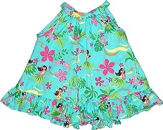 Baby Girl's Hula Spring Halter Ruffle Hawaiian 2 Piece Dress Set