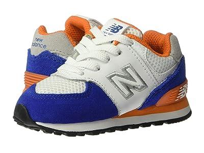 New Balance Kids 574 Summer Sport (Infant/Toddler) (Team Royal/Varsity Orange) Boys Shoes