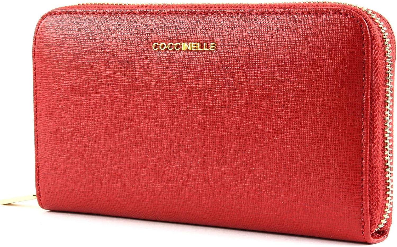 COCCINELLE Wallet METALLIC SAFFIANO Female red  E2CW1113201R09
