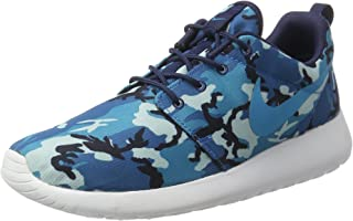 Rosherun Print Mens Running Trainers 655206 Sneaker Shoes (UK 7 US 8 EU 41, mid Navy Blue Lagoon Dark Electric Blue White 441)