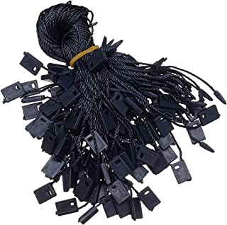 7 Inch 1000Pcs Black Hang Tag String Snap Lock Pin Loop Fastener Hook Ties, Easy and Fast to Attach