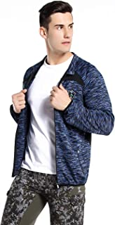 Xin Hui Bao Men's Windproof Softshell Zip-Front Jacket Winter Outerwear