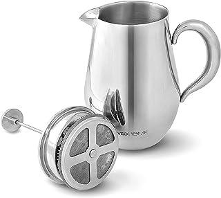 VeoHome - Cafetera de émbolo - Indestructible y mantiene el café caliente por mucho tiempo gracias a su cubierta doble (Grande (1Litro))