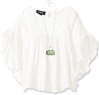 Amy Byer Girls' Poncho Style Top