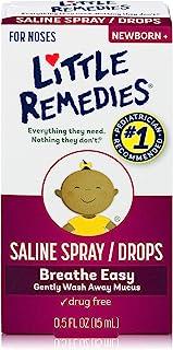 Little Remedies Saline Spray and Drops, Safe for Newborns, 0.5 fl oz