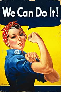 Rosie the Riveter - We Can Do It! - Vintage Propaganda (36x54 Giclee Gallery Print, Wall Decor Travel Poster)