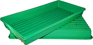 Heavy Duty, Made in USA, 1020 Growing Tray for garden seeds, Microgreens, Wheatgrass (With Drain Holes)Pack of 10