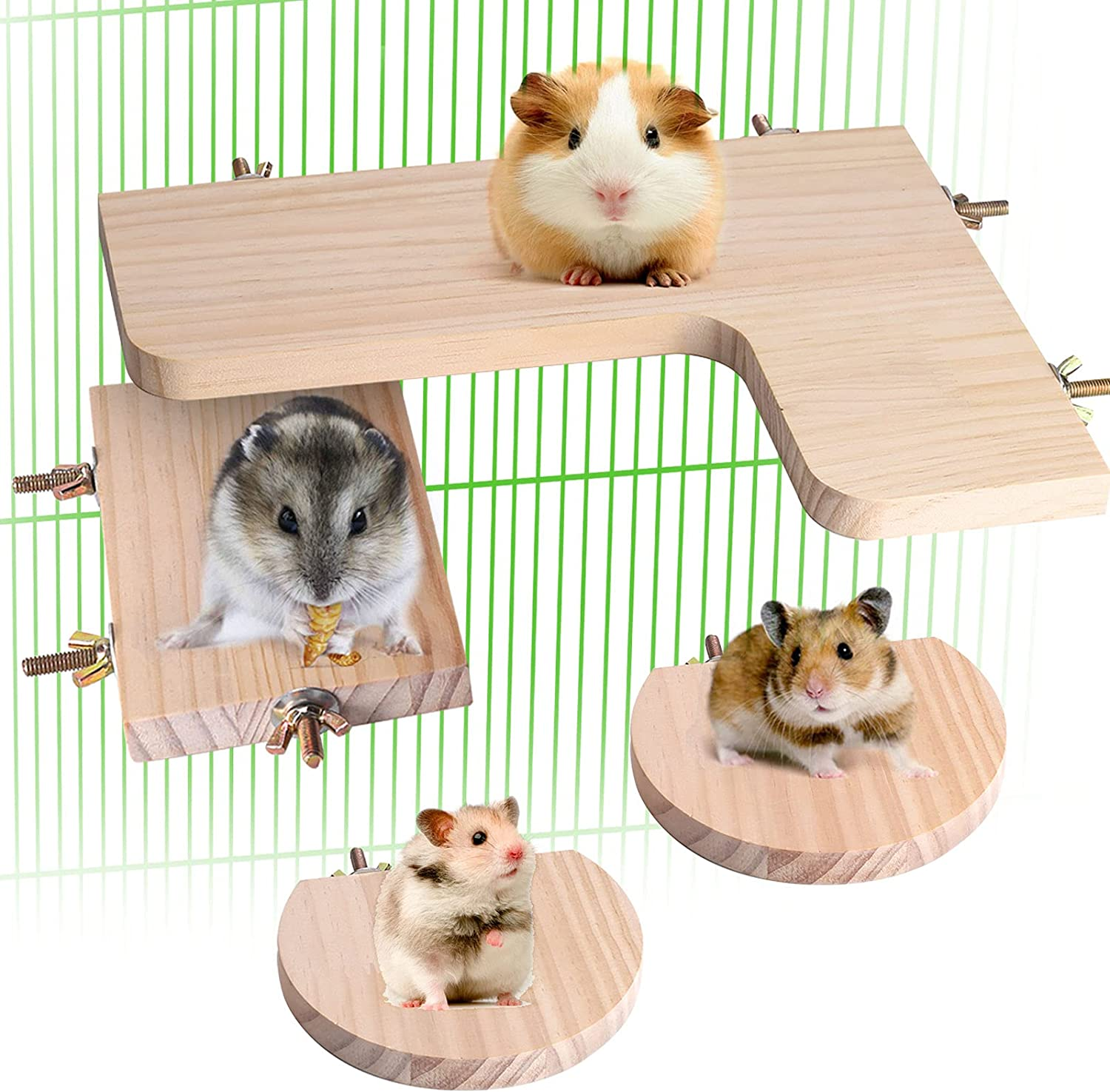 Chinchilla Cage Accessories Platform Austin Mall National products Wooden Rat