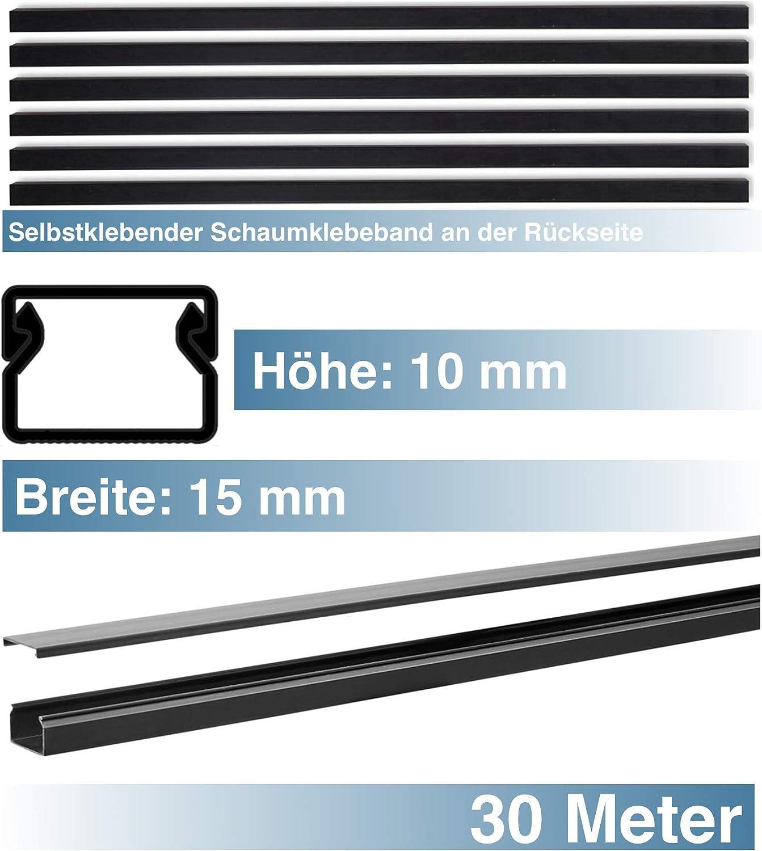 SCOS Smartcosat SCOSKK199 30 m Kabelkanal (L x B x H 2000 x 15 x 10 mm, PVC, Kabelleiste, Selbstklebend) graphit-schwarz B07HZ9F6SH | Produktqualität
