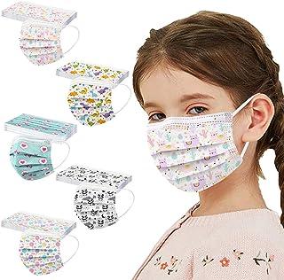 50 piezas de protección desechable para niños, transpirable, patrón de dibujos animados mixto, adecuado para deportes al a...
