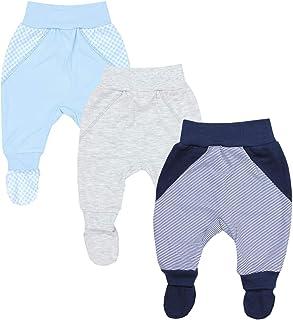 TupTam, Pantalón con Pies de Bebé para Niños Pack de 3