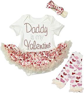 Petitebella Baby Girls' White Bodysuit Pink Tutu Leg Warmer