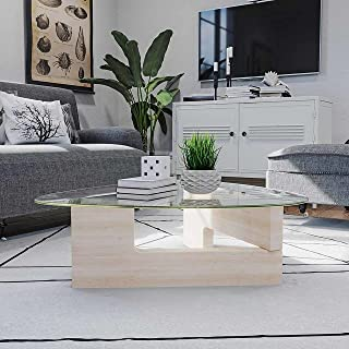 Coffee Table, with 6mm Modern Tempered Glass, and 40mm Centre Table, Side Table, Triangular