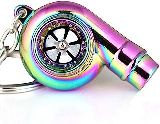 maycom Creative Sleeve Spinning Turbo Turbine Turbocharger Keychain Key Chain Ring Keyring Keyfob