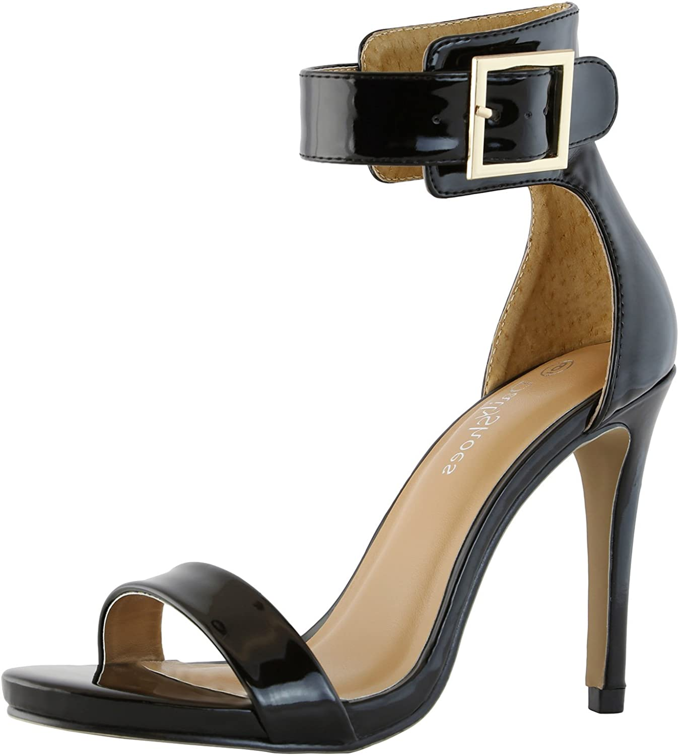 Dailyshoes Women's Stiletto Heels Open Toe Ankle Buckle Strap Platform High Heel Evening Party Dress Casual Sandal shoes