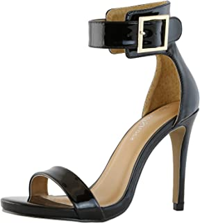 DailyShoes Women's Stiletto Heels Open Toe Ankle Buckle Strap Platform High Heel Evening Party Dress Casual Sandal Shoes