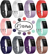 Fundro Replacement Bands Compatible with Fitbit Charge 2, Classic & Special Edition Adjustable Sport Wristbands Small Large