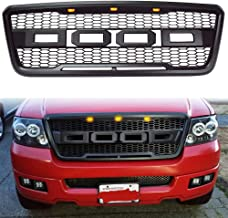 YoYuan Front Grilles Emblem Letters F R for Ford F150 Car Replacement F /& R 2009 2010 2011 2012 2013 2014 Raptor Style (Black