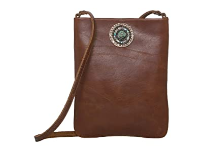 Leatherock Pandora Cell Pouch (Brown) Cross Body Handbags