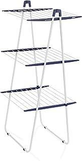 Leifheit Tour de séchage Pegasus Tower 190, séchoir à linge tour à 3 niveaux, étendoir solide et robuste, sèche linge de t...
