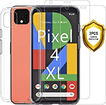 EJBOTH Screen Protector for Google Pixel 4 XL Tempered Glass Film and Google Pixel 4 XL Case Cover Transparent with [Replacements Warranty][Easy to Apply][Ultra-Thin][No Bubbles]