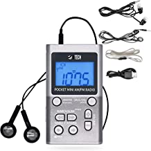BTECH MPR-AF1 AM FM Personal Radio with Two Types of Stereo Headphones, Clock, Great..