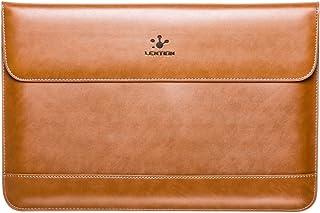 LENTION Split Leather Sleeve Case Compatible 2016-2019 MacBook Pro 13 (Thunderbolt 3), New Mac Air, XPS 13, iPad Pro 12.9 ...