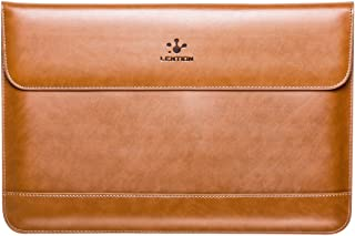 LENTION Split Leather Sleeve Case Compatible with MacBook Pro 15-inch (2019 to 2016 / Retina 2015 to 2012), More 15-inch Ultra Slim Laptops, Magnetic Snaps & Soft Touch (Brown)