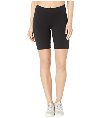 HUE High-Waist Blackout Cotton Bike Shorts (Black) Women