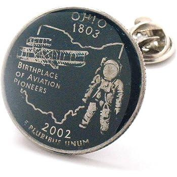 The Traveling Penny Ohio Cufflinks Suit Flag State Coin Jewelry USA United States America Columbus Cleveland Cincinnati Toledo Dayton
