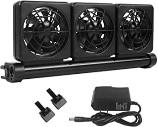 Petzilla Aquarium Chiller, Fish Tank Cooling Fan System for Salt Fresh Water, Reduce Temperature 2 to 4 Celsius Degree, 2 Speed and Wide Angle Adjustable
