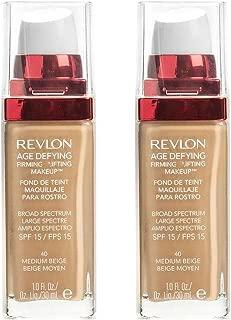 Revlon Medium Beige Age Defying Firming Plus Lifting Makeup -- 2 per case.
